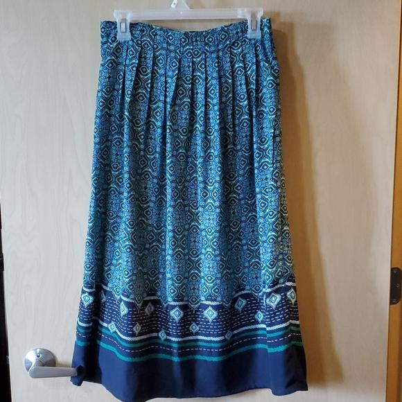 Christopher & Banks Dresses & Skirts - NWOT Green and Blue A-line Skirt